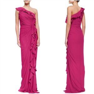 BNWT Badgley Mischka One-Shoulder Gown